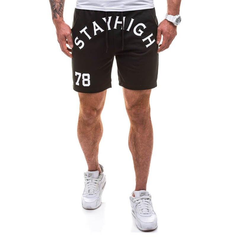 Envmwnst 2017 Summer New Men Letter Short Pants High Quality Soft Loose Baggy Shorts  Casual Cotton Elastic Waist Shorts Summer