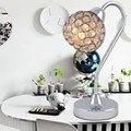 Modern K9 Crystal abajur Home Office quarto abajur decoração Luminaire E14 110 - 240 V