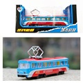 Servicio de paquete de regalo de aleación modelo de coche bus tranvía antena toys para niños exquisitos 108 carretera de turismos