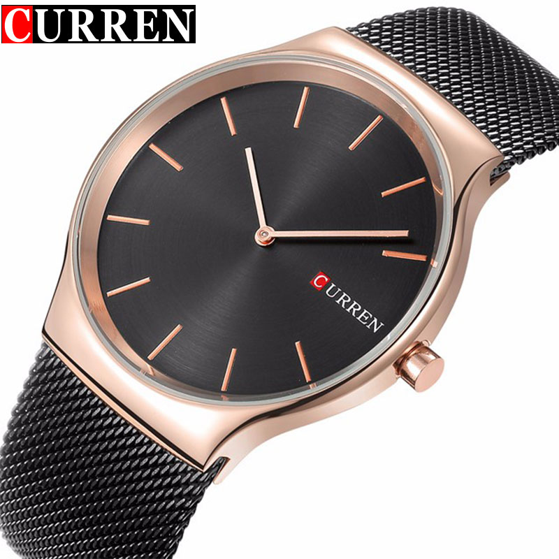 Top Brand Luxury Quartz Watch Men's Stainless Steel Mesh Band Fashion Casual Waterproof Business Clock Male Relogio Masculino