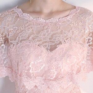 Image 5 - JaneVini Elegante Preto do Verão Do Laço Nupcial de Casamento Bolero Wraps Mulheres Baratos Curto Cape Xailes Roubou Outwear Acessórios Do Casamento