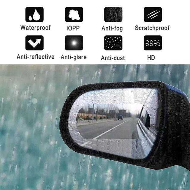 IZTOSS Car Sticker 2pcs/set Car Rearview Mirror Anti Fog Anti-glare Waterproof