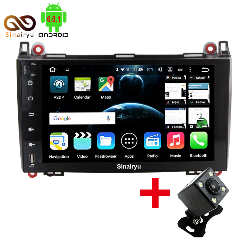 9 1024X600 Android 6 0 Octa Core Car DVD Head Unit For Mercedes Benz B200 W169