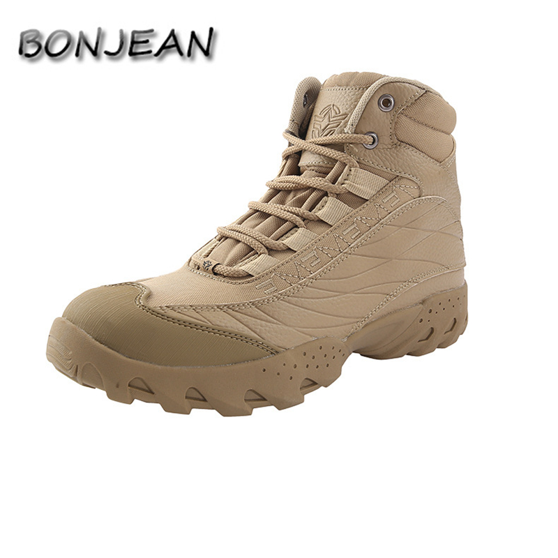 Military Tactical Mens Boots Special Force Leather Waterproof Desert Combat Ankle Boot Army Work Shoes Wanderschuhe Botas