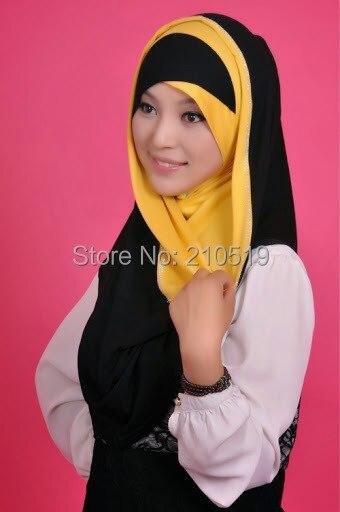 Newest HOT COTTON islamic scarf hijab beading BIG LONG MUSLIM one piece HIJAB