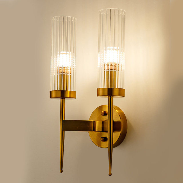 American Style All Copper Creative Wall Lamps For Living Room