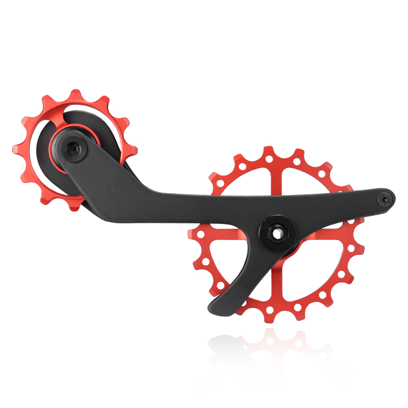 Bike Bicycle 17T Rear Derailleur Cage Pulley For Shimano 9100 9150 R8000 R8050 Carbon fiber Jockey Pulley Wheel Ceramic Bearing ztto 11t mtb bicycle rear derailleur jockey wheel ceramic bearing pulley al7075 cnc road bike guide roller idler 4mm 5mm 6mm