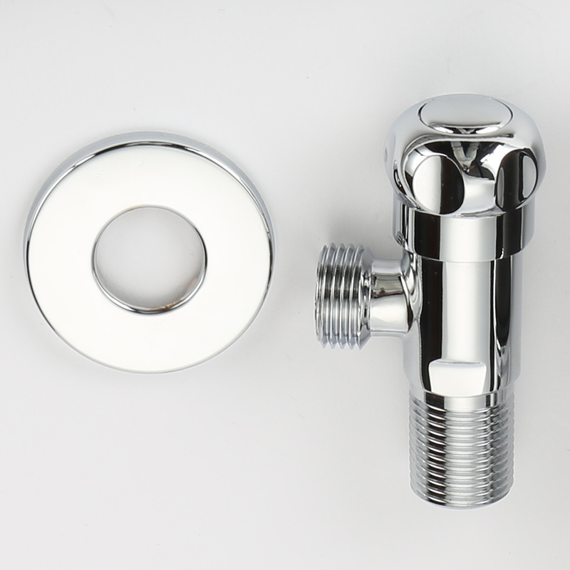 Brass Chrome Plate Polished Kitchen Bathroom Accessories Angle Valve for Toilet Sink Basin Water Heater Angle