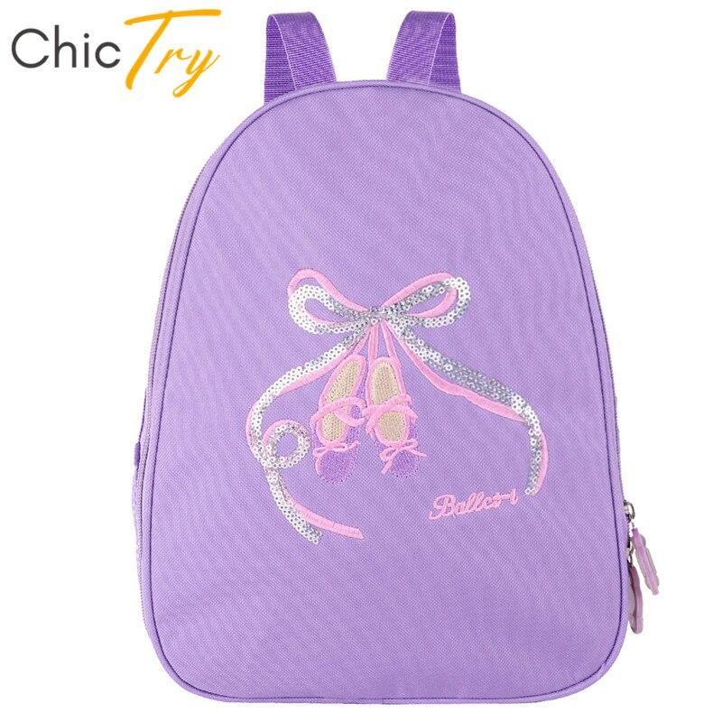 Chictry Kids Girls Shiny Embroidery Ballet Backpack Children Ballet Dance Bag Sports Students School Shoulder Bag Dance Daypack Pure And Mild Flavor