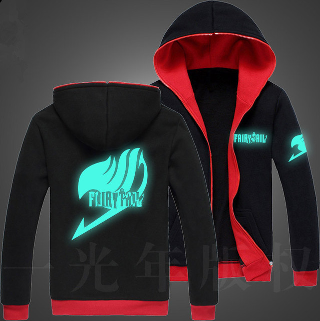Fairy Tail Glow Zipper Hip Hop Sweatshirt Hoodie