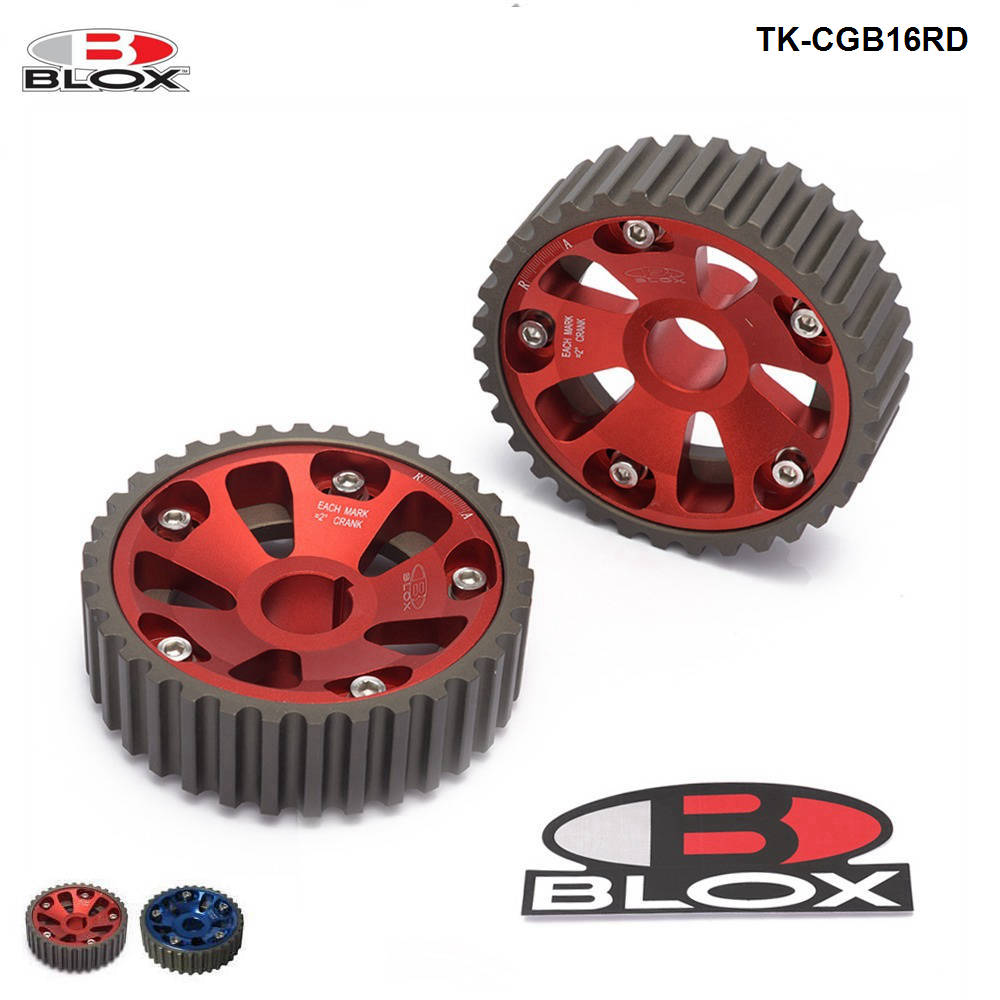 Blox 2Pcs Adjustable Cam Gears Timing Gear Pulley Kit For Honda B-Series B16/B18 Dohc Engine Inlet And Exhaust TK-CGB16