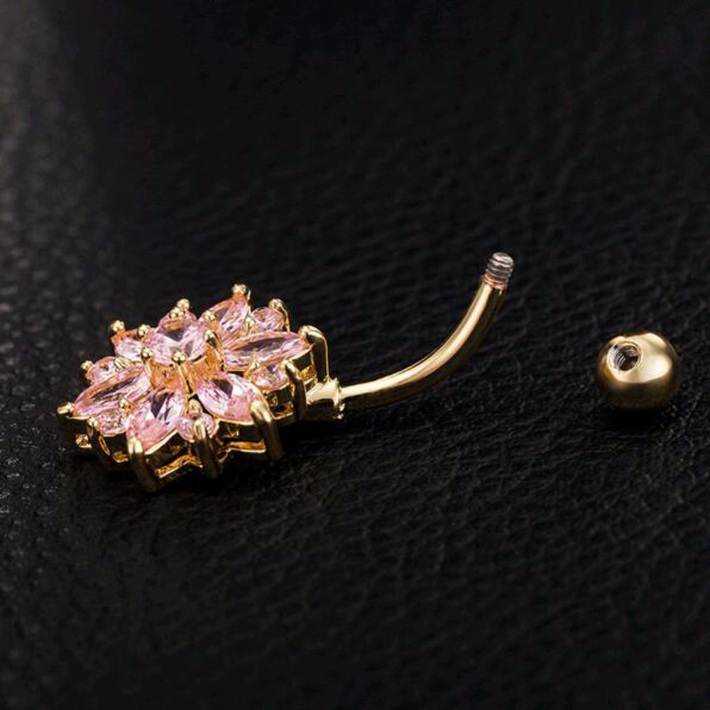 HTB1q_BcMFXXXXauXXXXq6xXFXXX0 Crystal Rhinestone Press Button Flower Pendant Navel Ring - 2 Colors