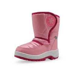 Mudipanda для девочек розовые зимние сапоги для зимы детская обувь Серебристые модные детские Нескользящие теплые зимние сапоги хлопок 22-33