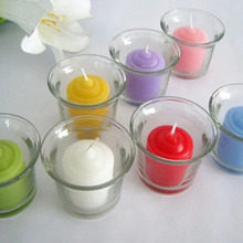 Party Happy Birthday Craft Candle Glass Jar Tealight Christmas Gift Stick Candles Profumate Photophore 50KO313