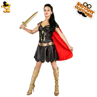 DSPLAY New Style Fashionable Carnival Original Warrior Roleplay For Female Trendy Cosplay Party Warrior Woman's Sexy Costume