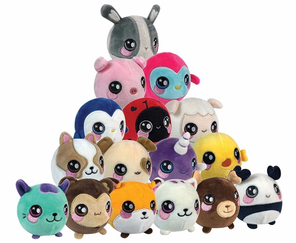 Squeeze Toys Adroit New Anti-stress Kawaii Squishy Plush Toys Stuffed Animal Squeezable Decompression Squeeze Toy Slow Rising Gift Phone Straps Clear-Cut Texture