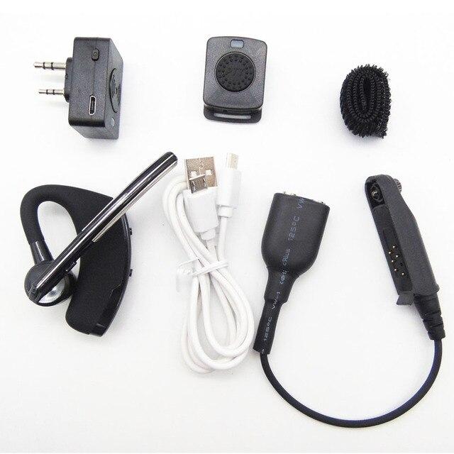 חדש K ראש Bluetooth אלחוטי אפרכסת PTT מיקרופון אוזניות עם כבל מתאם עבור BaoFeng BF 9700 A 58 UV XR UV 9R רדיו אבזרים
