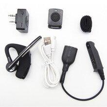 Novo k head bluetooth fone de ouvido sem fio ptt mic com adaptador de cabo para baofeng BF 9700 A 58 UV XR UV 9R rádio acessórios