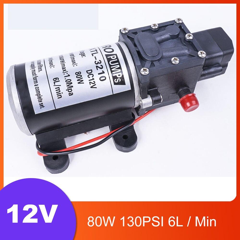 DC 12V 80W 130PSI 6L/Min eau haute pression pompe à membrane pompe auto-amorçante commutateur automatique pour Wagon de jardin