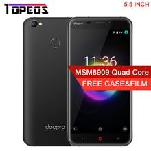 Doopro P2 Pro 5.5 POUCE Quad Core 5MP Android 6.0 Mobile téléphone 2 GB RAM 16 GB ROM Unlock 4G D'empreintes Digitales 5200 mAh Batterie Smartphone