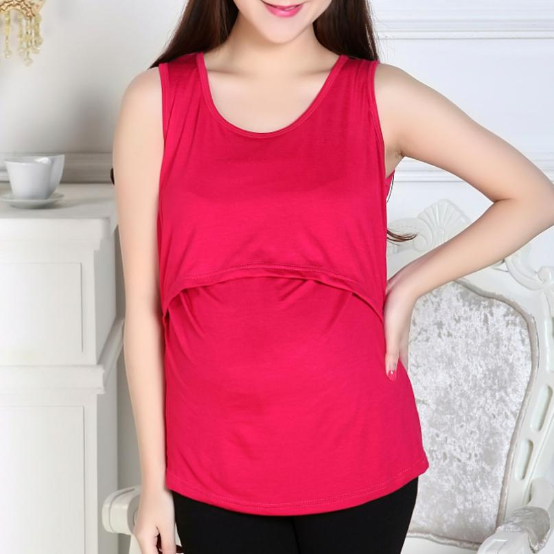 Mooistar2 #4066D Maternity Clothes Nursing Tops Breastfeeding Vest T-Shirt + ...