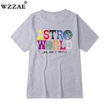 Hip Hop Men ASTROWORLD Harajuku T-Shirts Letter Print Tops SF