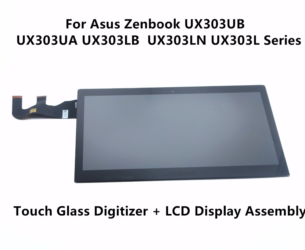 New For Asus Zenbook UX303UB UX303UA UX303LB UX303LN UX303L N133HSE-EA3 Touch Panel Glass Digitizer LCD Screen Display Assembly asus zenbook ux303ub