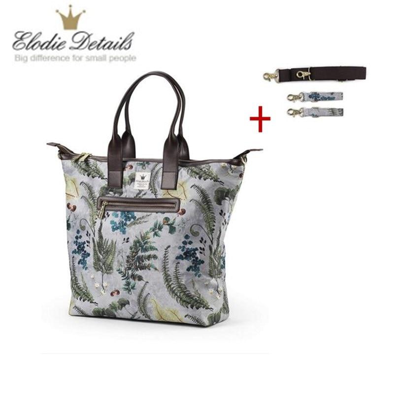 Elodie детали Мумия сумка натуральная кожаная сумка для пелёнок мама Материнство подгузник сумка большая емкость Детская сумка для кормления-...