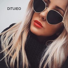 Sexy Small Vintage Cat Eye Sunglasses Women Vintage Red Black Sun Glasses Female