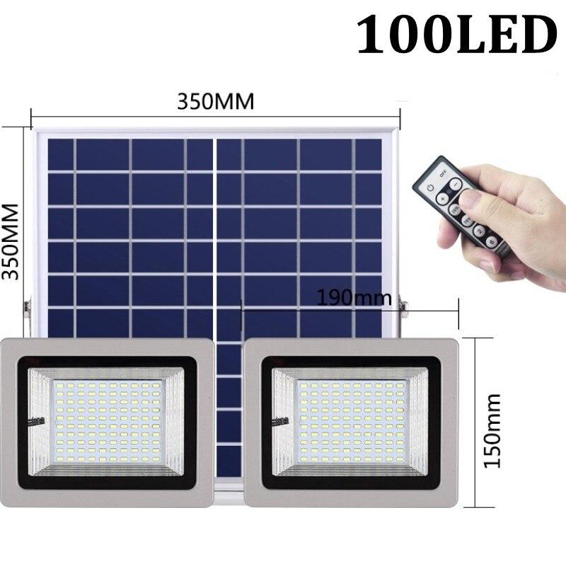 36W 60W 80W 100W SMD5730 éclairage LED LED capteur à énergie solaire lumière de sécurité extérieure jardin lampe d'inondation étanche blanc froid - 4