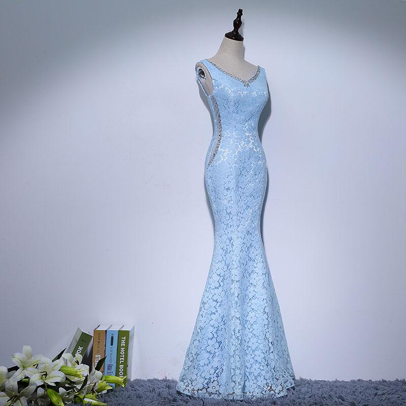 Lace Mama rochii de mireasa Beads Crystal Long Rochie femei Rochie de - Rochii de seară de nuntă - Fotografie 3