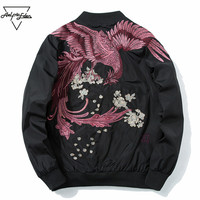 Aelfric Eden 2018 Spring High Street Phoenix Embroidery Jacket Coat Plus Size Casual Outwear Hip Hop