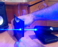 New arrival 450nm 500000m High power Focusable Blue laser pointer Flashlight Burning Match/paper/dry wood+Glasses+Box