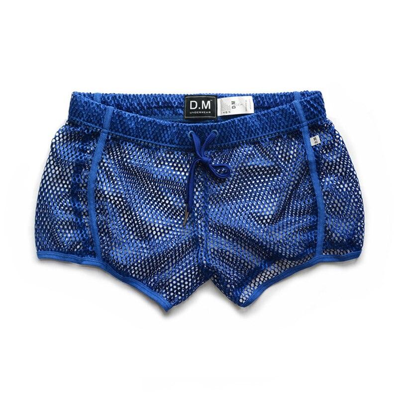 Underwear masculino boxer cueca low-rise homens corte oco sexy men underwear ropa interior hombre solto perspectiva cueca masculina