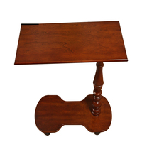 Lai Ka American Solid Wood Movable Rotating Bed Notebook Comter Desk Office Lazy Small Table