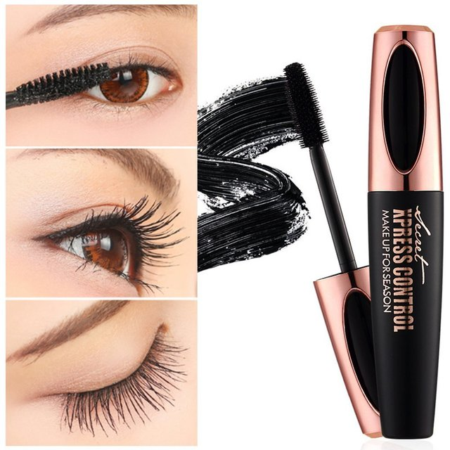 US Stock 4D Silk Fiber Lash Mascara Waterproof Rimel Mascara For Eyelash Extension Thick Lengthening Eye Lashes Cosmetics Tools 1