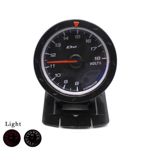 Universal Voltímetro Gauge 60mm D * fi CR Avance Volt Tensión Gauge Cara Blanca LED D * fi 60mm Calibrador Auto/Car Medidor