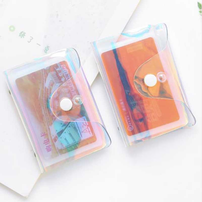 Fashion Laser Transparent Function 20 Bits Rfid ID Bank Card Case Business Holder Women Men Credit Passport Bag Wallet Purse