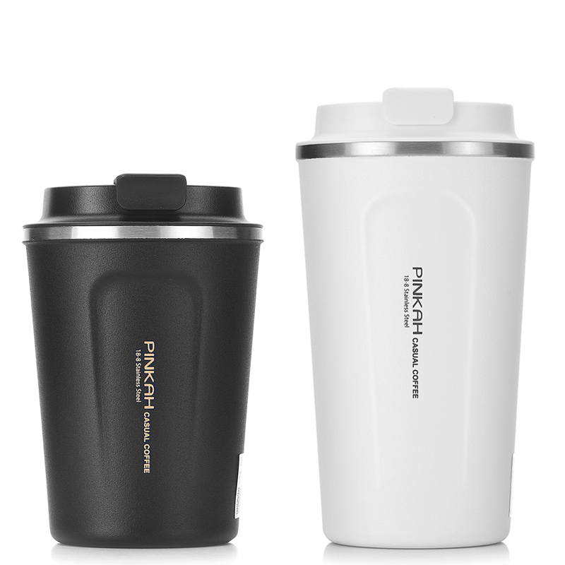 Image 2 - Hot Sale 380 & 510ml 304 Stainless Steel Thermo Cup Travel Coffee Mug with Lid Car Water Bottle Vacuum Flasks Thermocup for Gift-in Vacuum Flasks & Thermoses from Home & Garden