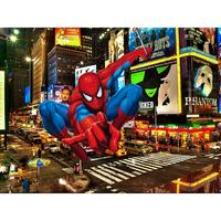 night sky Downtown Street Plaza Mall Spiderman Spider Man Background Vinyl cloth High quality Computer printed wall backdrops