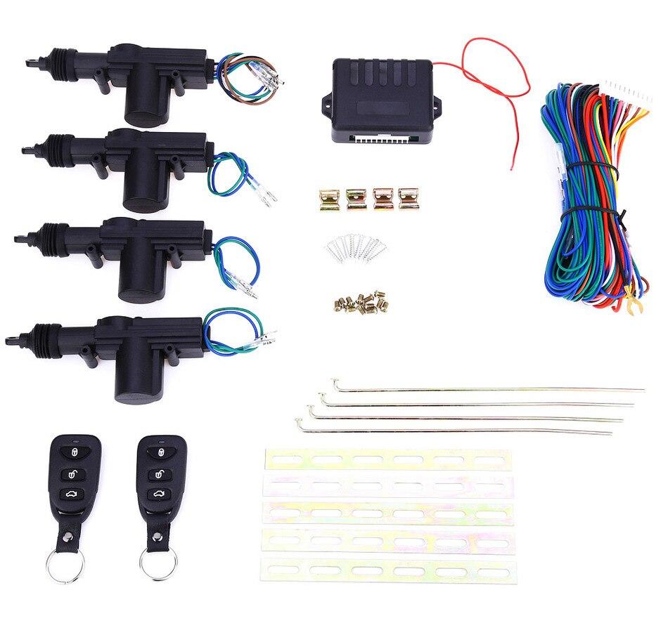 Hot 1 Set 4 porte à distance verrouillage Central Kit contrôle sans clé entrée voiture alarme + 433.92 MHz moteur voiture Auto voiture système d'alarme