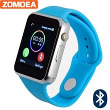 Ограниченное предложение Bluetooth Смарт часы для телефона Android Поддержка SIM/SD карты Для мужчин Для женщин Спорт для Huawei Сяо Ми силиконовый ремешок PK dz09 gt08 A1