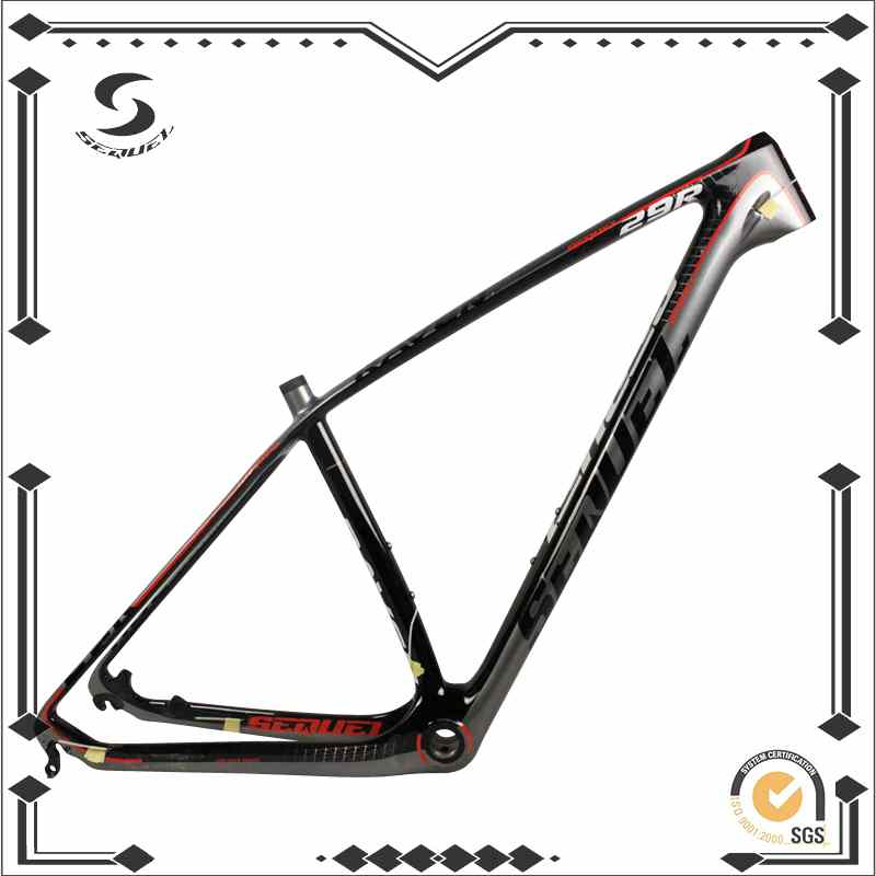 beautiful carbon bike frame 29er bicycle mountain bike frame 14212mm thru axle and 1359mm mtb frame sequel brand mq 02 bike