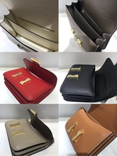 free shipping the new 2019 leather kangkang bag palmprint grain one shoulder inclined  gold color hardware