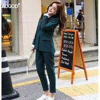 Rugod Women Blazer +Trousers Suit 2018 Spring Autumn Casual Elegant Ladies Trouser Suits Formal Pant Suits Women Leisure Wear