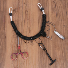 Maximumcatch Hand Woven Fly Fishing Wader Lanyard Braided Necklace Fishing Accessories&Zinger Retractor&Forceps&Tippet Holder