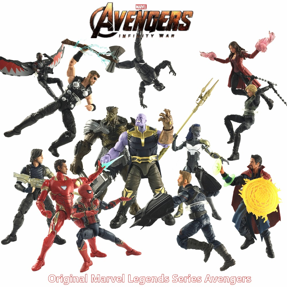 Marvel Legends 2018 Movie Avengers 3 Infinity War 6 Action Figure Thanos Captain America Iron Spider Men Thor Black Widow Toys
