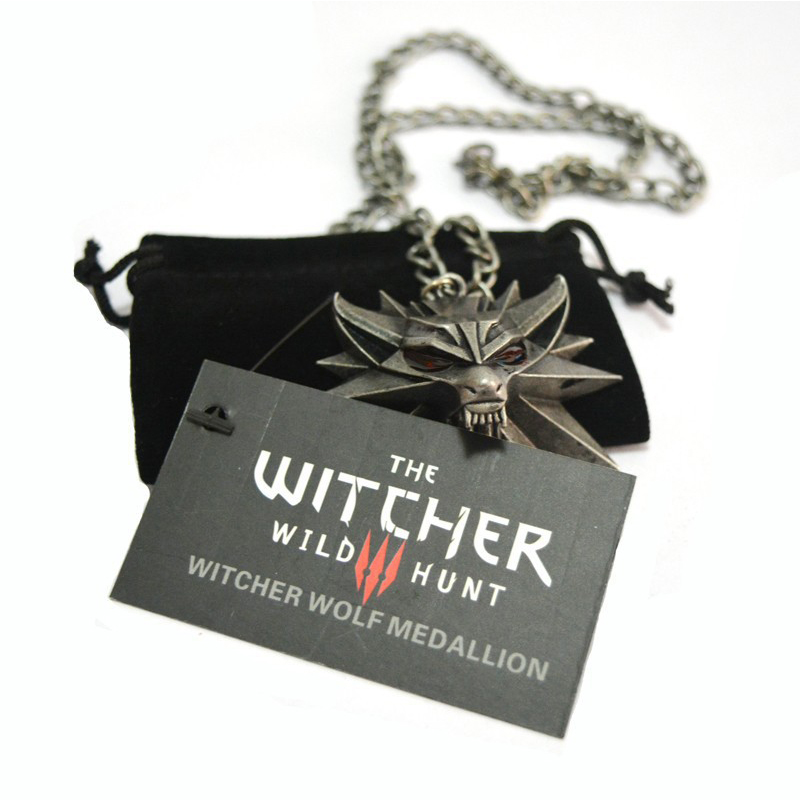 Necklace Pendant Game Gift Wild The Witcher 1-Card Metal Hunt Children Fashion And