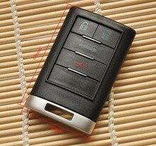 Smart Remote Key Case 4 Кнопки FOB Shell Для Cadillac Входа Заготовки Ключей с Зажимом Аккумулятора