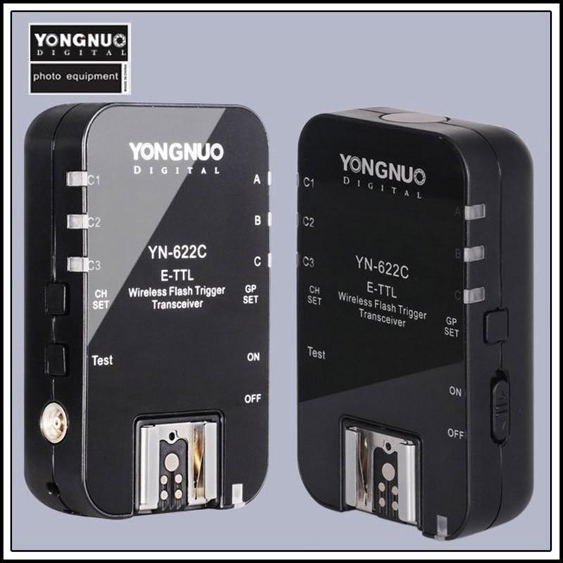 Yongnuo YN622c YN 622 YN-622 캐논 500d 600d 700d 1300d 1d3 5d3 카메라 플래시 라이트에 대 한 E-TTL 무선 플래시 트리거 트랜시버